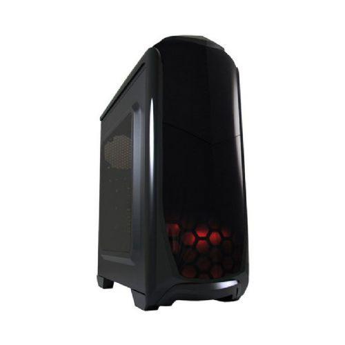 LC-POWER Gaming 976B Dark Trooper midi ATX okno modra LED črno ohišje