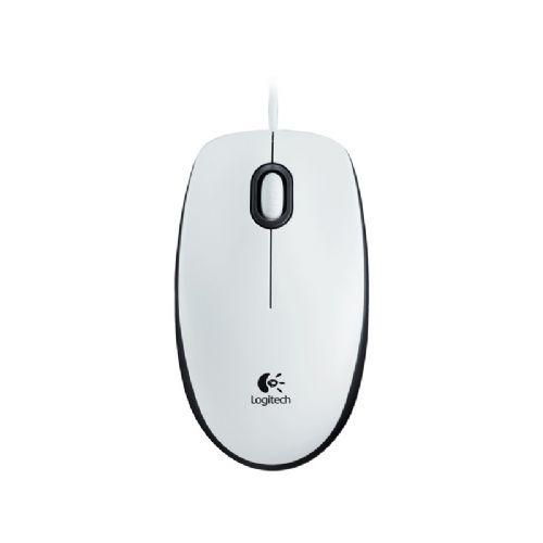 LOGITECH M100 USB optična bela miška