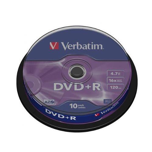 VERBATIM DVD+R 4,7GB 16x 10 medijev