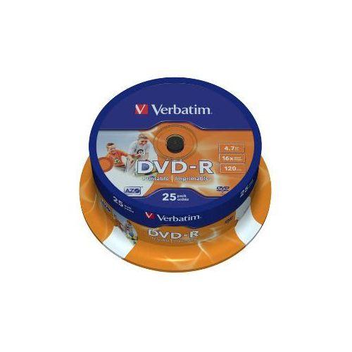 MEDIJ DVD-R VERBATIM 25PK printable tortica (43538)