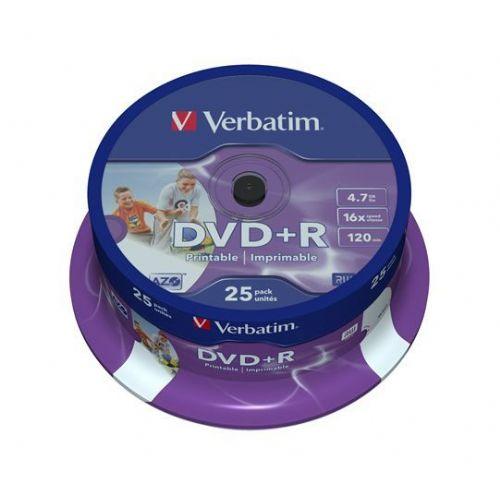 MEDIJ DVD+R VERBATIM 25PK printable tortica AVT071374