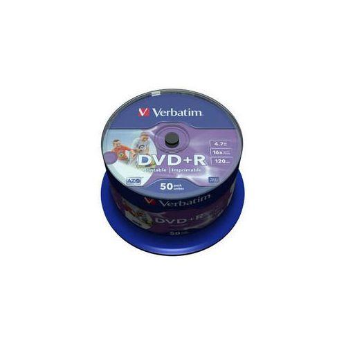 MEDIJ DVD+R VERBATIM 50PK printable tortica (43651)