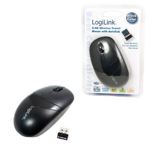 Miš  LogiLink Brezžična Optična Mini črna ID0069