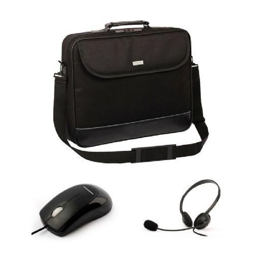 """MODECOM Basic Traveler 43,4 cm (17"""") komplet 3 v 1 torba, miška in slušalke za prenosni računalnik"""