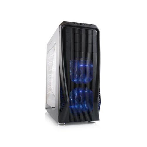 MODECOM MAG C3 midi ATX modra LED črno ohišje