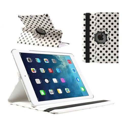 "Modni smart etui ""Polka Dot"" za iPad Air - bel"