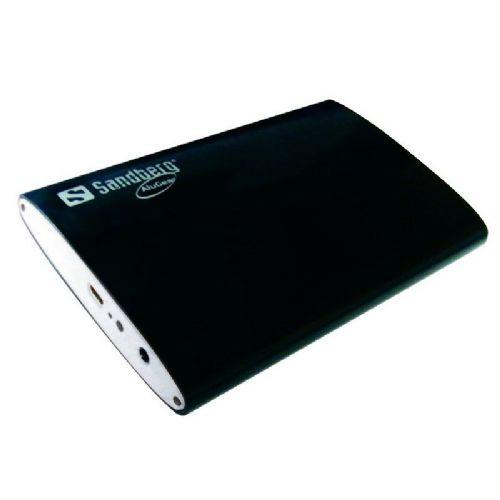 """Zunanje ohišje SANDBERG Hard Disk Box 3.5 USB3.0 za disk 6,35cm ( 2,5"""", črno)"""