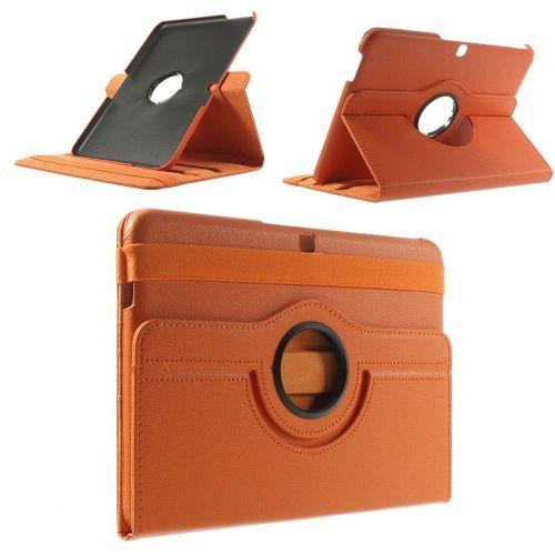 "Tanek eleganten etui ""Rotate 2"" za Samsung Galaxy Tab 4 10.1 - oranžen"
