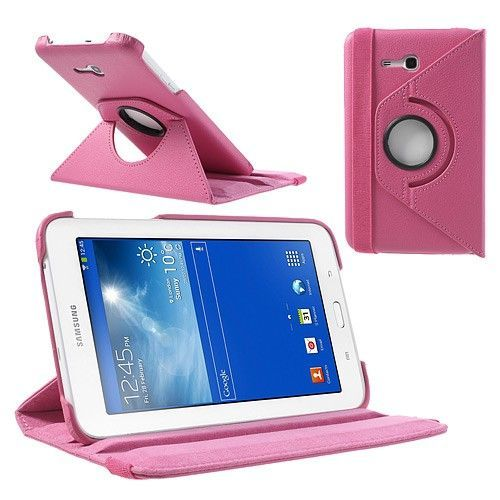 "Tanek eleganten etui ""Rotate"" za Samsung Galaxy Tab 3 7.0 Lite - roza"