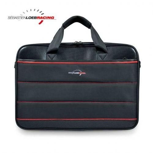 """Torbica PORT SRL TL 17,3"""",športna črna z rdečimi črtami in žepom za hiter dostop (202332)"""