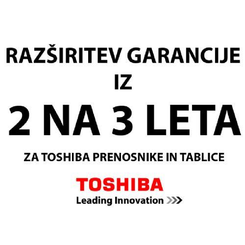 TOSHIBA EXT103I-V iz 2 na 3 leta za prenosnike razširitev garancije