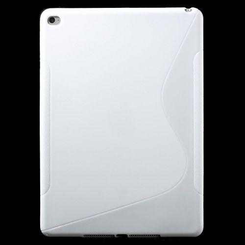 "TPU gel ovitek ""S-Line"" za iPad Air 2 - bel"