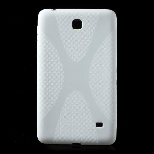 """TPU gel ovitek """"X-Line"""" za Samsung Galaxy Tab 4 7.0 - bel"""