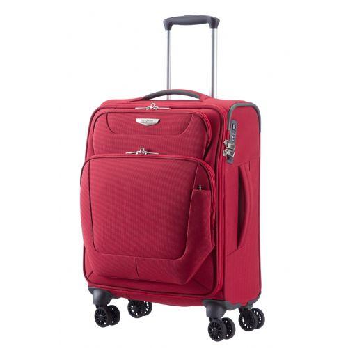 Mehek kovček Samsonite Spinner Spark na štirih kolesih 55 širina 40 cm rdeč