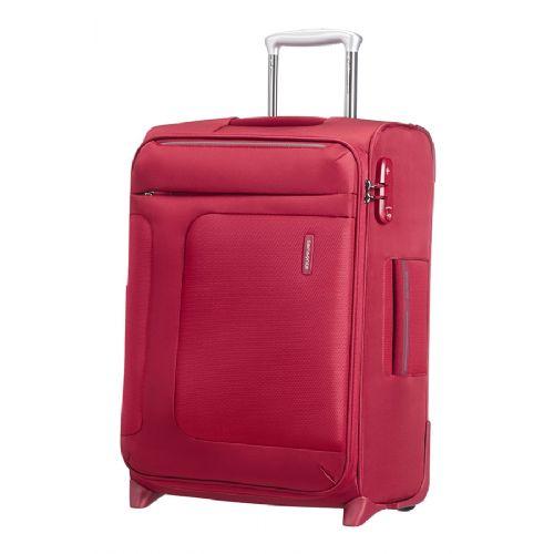 Mehek kabinski kovček Samsonite Asphere na dveh kolesih 55 raztegljiv rdeč