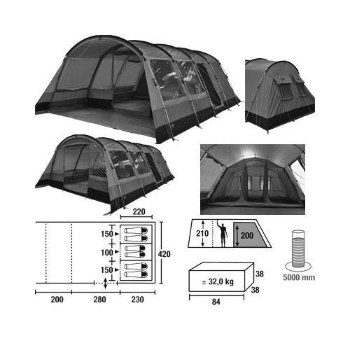 Družinski šotor HIGH PEAK MALINDI VARIO 6