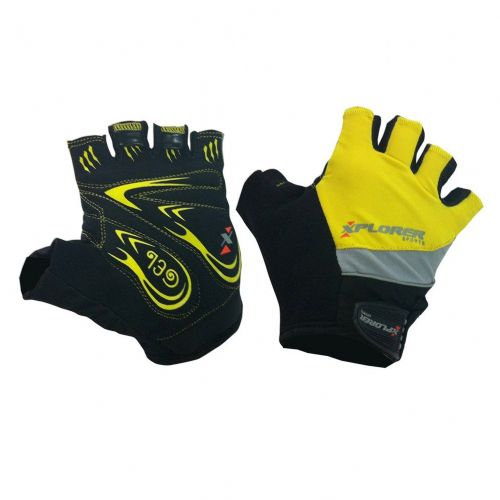 Kolesarske rokavice Xplorer Gel Plus Yellow vel. M