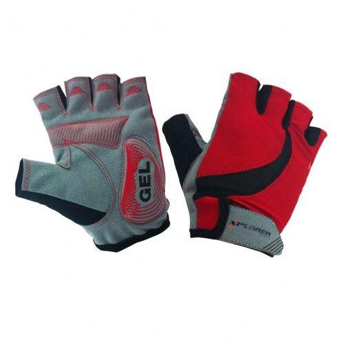 Kolesarske rokavice Xplorer Gel Red vel. L