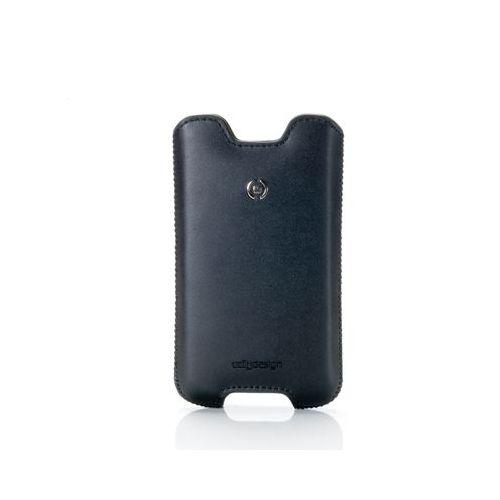 Celly navpična usnjena torbica IFIT XL črna