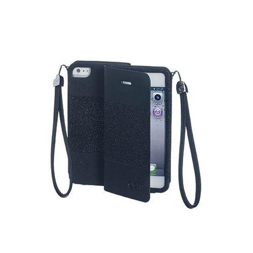 Celly torbica Glamme za iPhone 5/5S/SE črna
