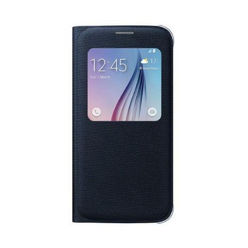 Samsung S-View EF-CG920BBE preklopna torbica Samsung Galaxy S6 G920 fabric črna - original