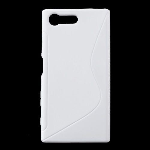 """TPU gel ovitek """"S-Line"""" za Sony Xperia X Compact - bel"""