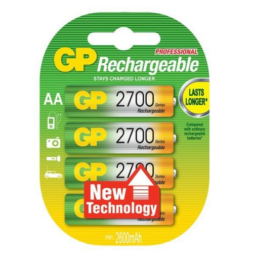 AA 2700 mAh Ni-Mh polnilna GP baterija (4 kosi)