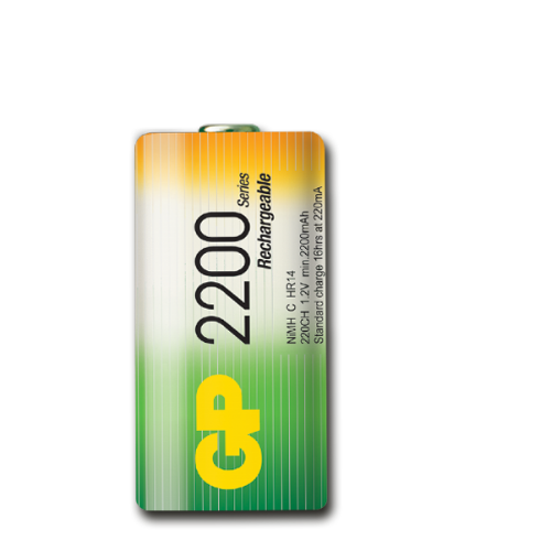 C 2200 mAh Ni-Mh polnilna GP baterija