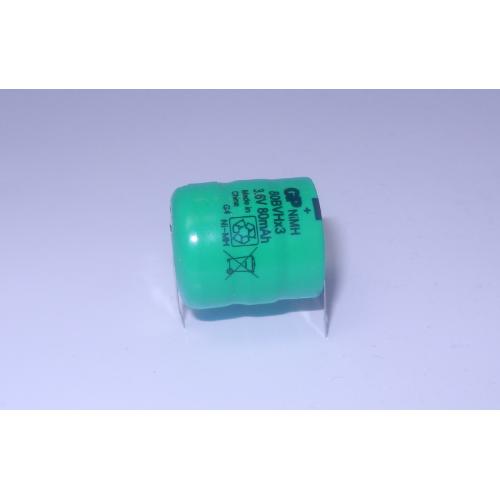 Industrijska 3,6V 80 mAh Ni-Mh polnilna GP baterija