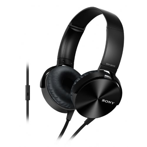 SONY slušalke MDR-XB450APB črne barve
