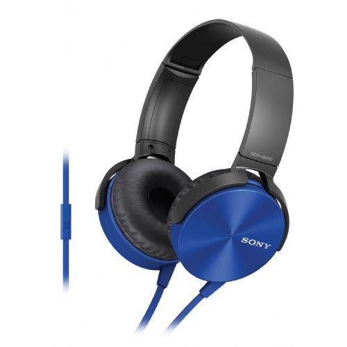SONY slušalke MDR-XB450APL modre barve