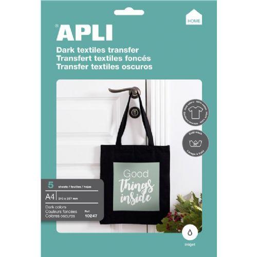 APLI Transferni papir za pisane majice 5 listov
