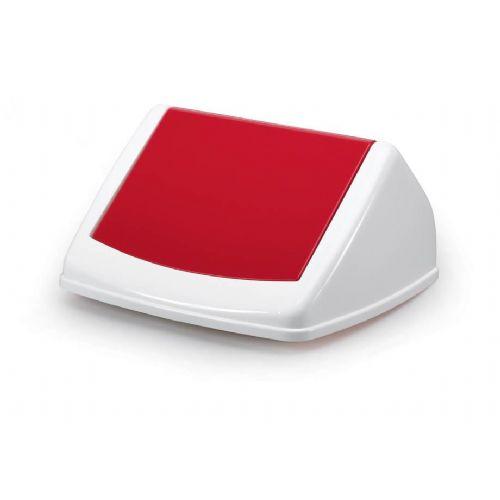 Durable Durabin FLIP-pokrov oglat 40l rdeč