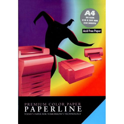 Fotokopirni papir Paperline 80 gm - A4,  neon mix