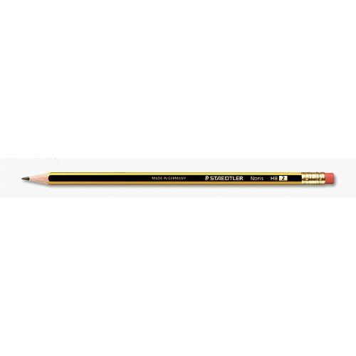 Grafitni svinčnik Staedler Noris HB2 z radirko