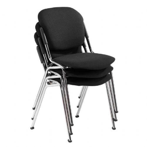 Konferenčni stol: črna/krom