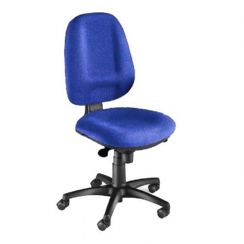 Pisarniški stol: visoki naslon, moder, za 8 urno sedenje