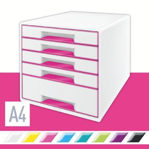 Predalnik za dokumente A4 maxi 5 predalov WOW pink