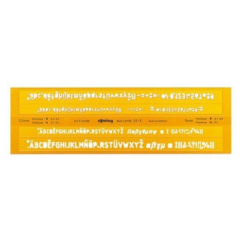 Šablona Rotring – Črke – 3,5 mm + 5 mm