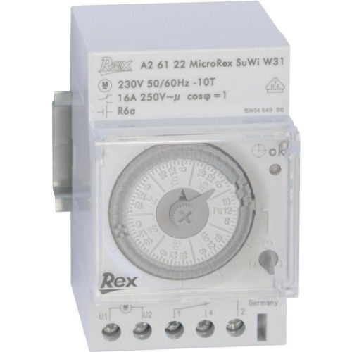 Časovna stikalna ura za namestitev na vodila, 230 V, 16 A/250 V, A26122