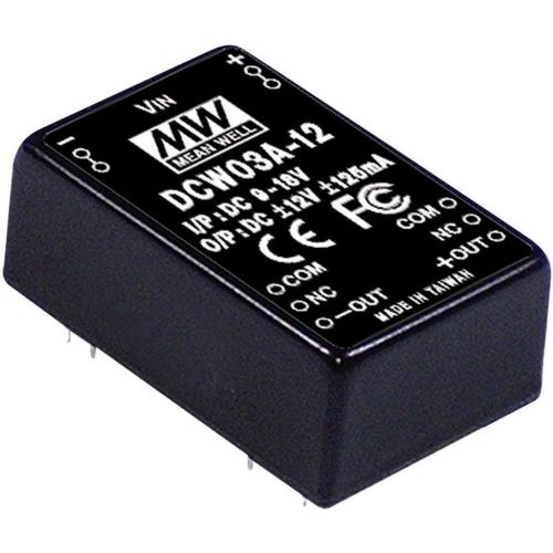 DC/DC-pretvornik Mean Well DCW03B-05 +/-5 V/DC 300 mA