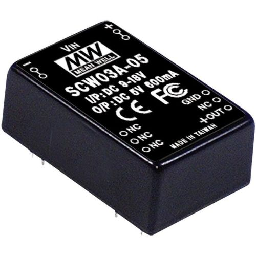 DC/DC-pretvornik Mean Well SCW03B-15 +15 V/DC 200 mA