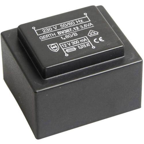 EI 38/13,6 Transformator za tiskana vezja, primarni: 230 V sekundarni: 9 V 400 mA 3.6 VA Gerth