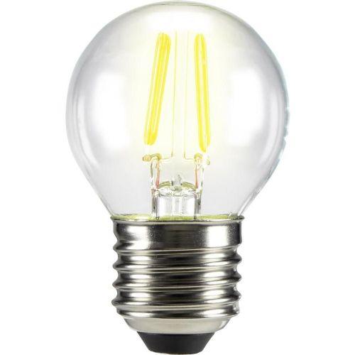LED (enobarvna) 72 mm sygonix 230 V E27 3 W = 28 W topla-bela EEK: A++ oblika kaplje, žarilna nitka , vsebuje: 1 kos