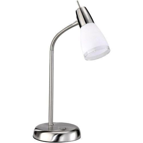 Namizna luč Eco halogenska žarnica E14 28 W LeuchtenDirekt Doro 11847-55 jeklo