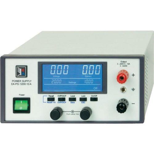 Nastavljiv laboratorijski napajalnik EA Elektro-Automatik, EA-PSI 5200-04 A 0 - 200 V 0 - 4 A 320 W USB, Ethernet, analogni
