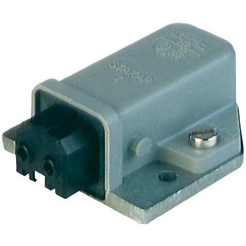 Omrežni priključek vtičnica, vgradni horizontalen ,skupno št.polov: 2 + PE 16 A siva Belden STAKAP 2 1 kos 930329106