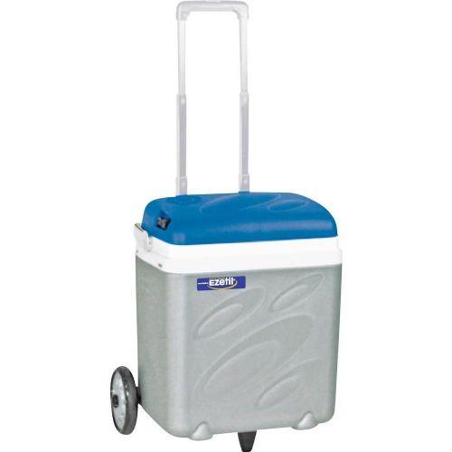 Hladilna torba Trolley EZetil E30 B 12V srebrna/modra termoelektrična hladilna torba 12 V siva, modra, bela 29.3 l energ. razred