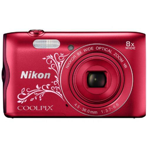 Fotoaparat NIKON COOLPIX A300 Rdeč z vzorcem