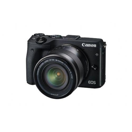 Brezzrcalni Fotoaparat CANON EOS M3 v črni barvi M18-55STM Prem.Kit